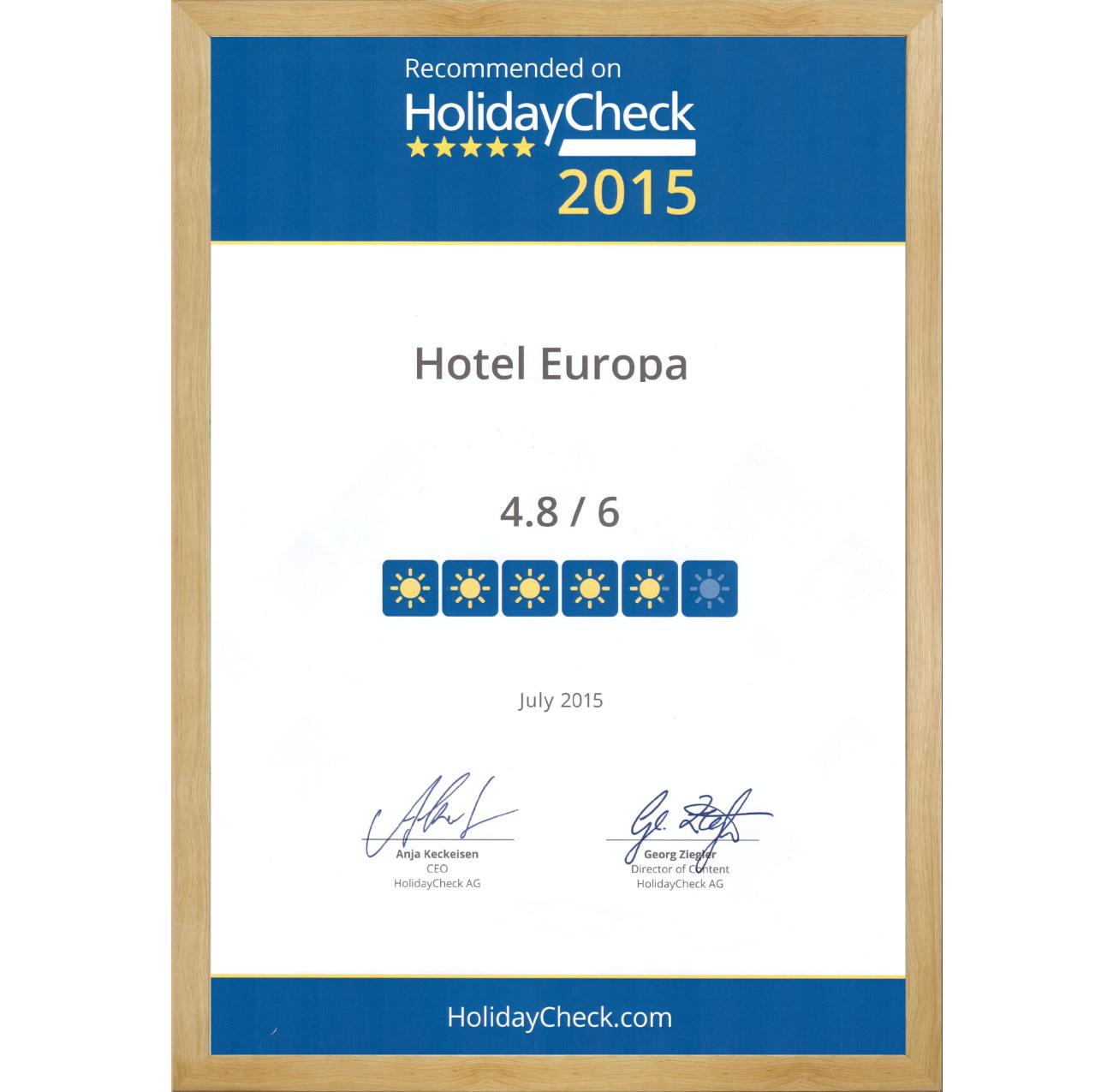 3 Sterne Hotel Garni - Hotel Europa Pforzheim